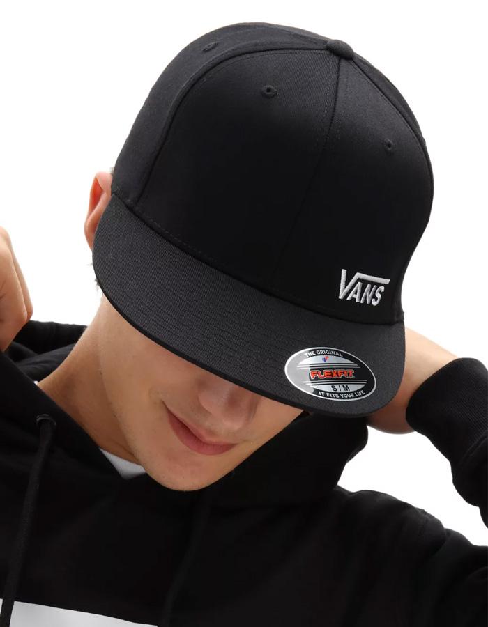 Vans Splitz Flex Fit Hat Black Cappellino - Surf Shop Online