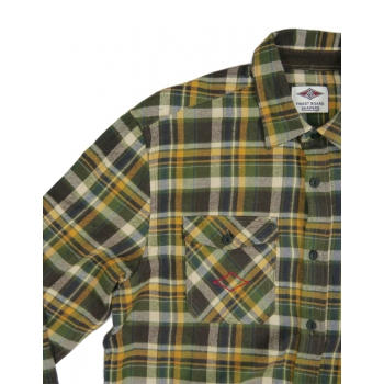 BEAR SURFBOARDS CAMICIA IN FLANELLA BROWN