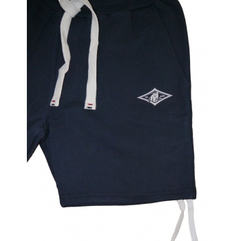 BEAR SURFBOARDS PANTALONI CORTI IN FELPA NAVY