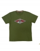 BEAR SURFBOARDS T-SHIRT LOGO BRONZE GREEN