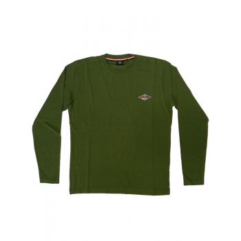 BEAR SURFBOARDS T-SHIRTS LOGO LS BRONZE GREEN
