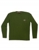 BEAR SURFBOARDS T-SHIRT LOGO MANICA LUNGA BRONZE GREEN