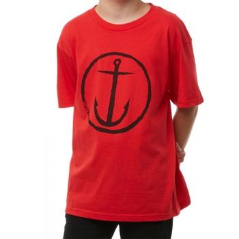 CAPTAIN FIN BAMBINI ORIGINAL ANCHOR T-SHIRT RED