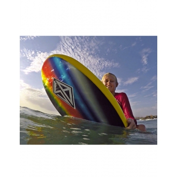 "CBC SCOTT BURKE 54"" BLACK BALL BREAKER SOFTBOARD FCS FINS"