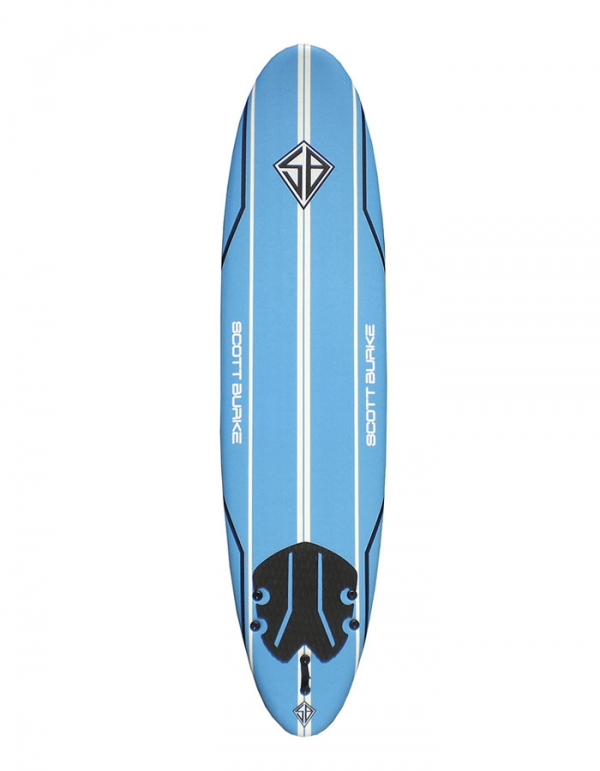 "CBC SCOTT BURKE 7'6"" MALIBU SOFTBOARD"