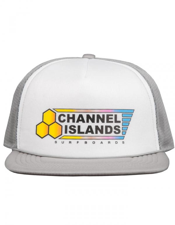 CHANNEL ISLAND FADE FLAG TRUCKER HAT GREY
