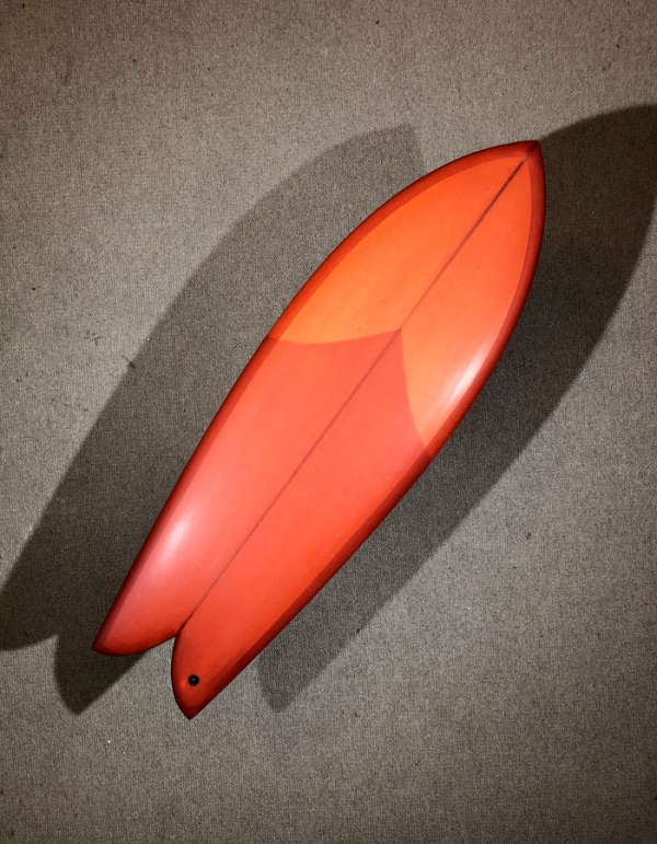 CHRIS CHRISTENSON FISH 5'6'' TWIN FIN RESIN TINT RED