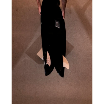 CHRIS CHRISTENSON FISH 5'6'' TWIN FIN RESINED POLISH BLACK