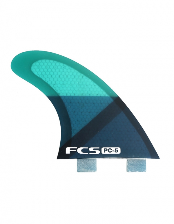 FCS PINNE PC5 BLUE SLICE QUAD FIN SET M