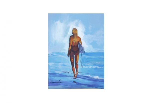 GANADU SURF ART ORIGINAL PAINTINGS GIRL 18X24
