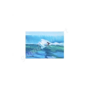 GANADU SURF ART ORIGINAL PAINTINGS SLASH 13X18