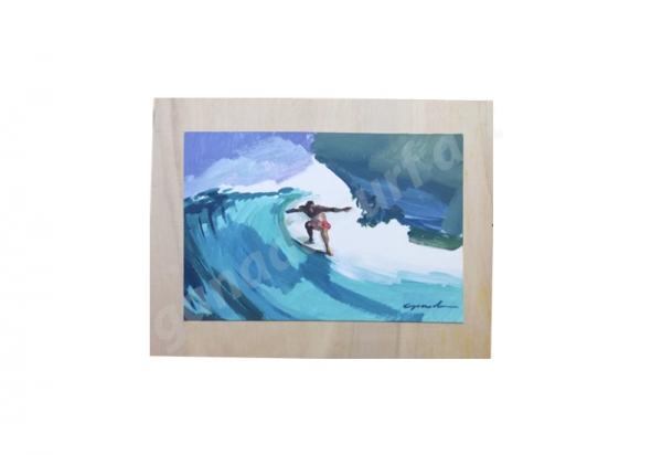 GANADU SURF ART ORIGINAL PAINTINGS TUBO 2 CARTONE SU TAVOLA 30x23