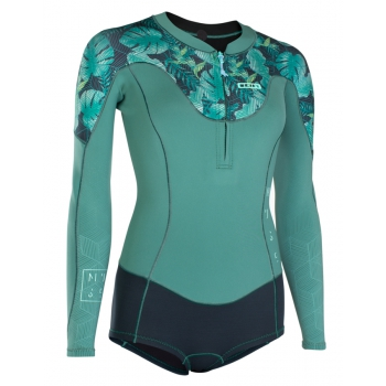 ION MUTA DONNA MUSE HOT SHORTY 1.5 FRONTZIP SEA GREEN