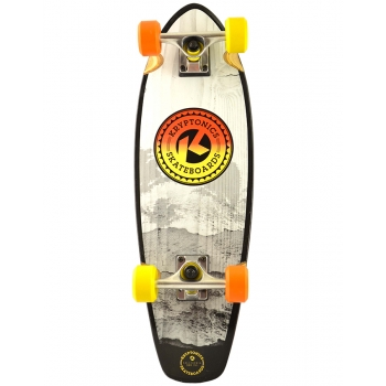 KRYPTONICS SKATEBOARD FADE GREY CRUISER 27""