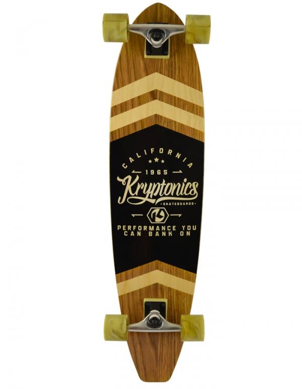 KRYPTONICS SKATEBOARD LONGBOARD CLASSIC SWIRLED BLOCKTAIL 37''