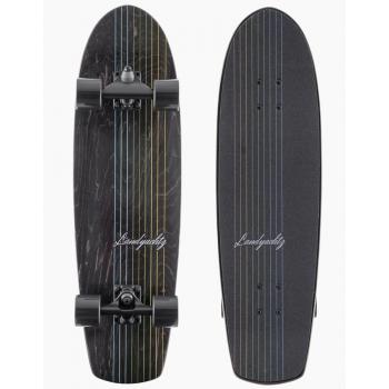 "LANDYACHTZ 31"" SURFSKATE BUTTER BLACK LINES"