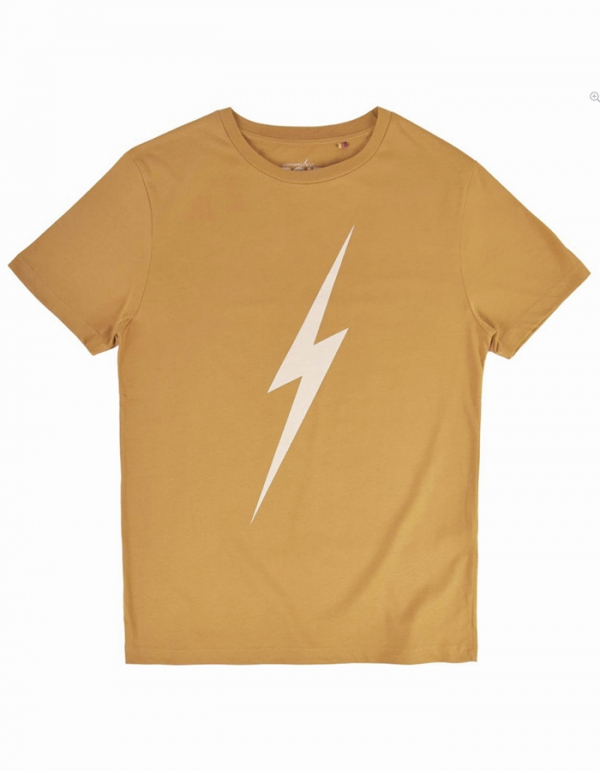 LIGHTNING BOLT FOREVER TEE GOLDEN BROWN