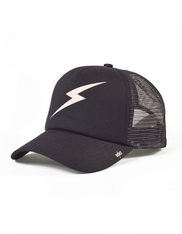 LIGHTNING BOLT FOREVER TRUCKER HAT CAPPELLINO BLACK