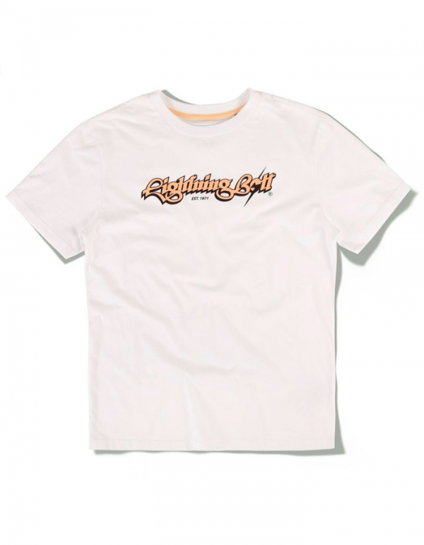 LIGHTNING BOLT SCRIPT T-SHIRT WHITE