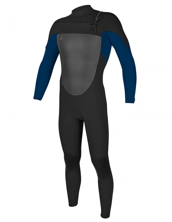 O'NEILL O'RIGINAL 4/3 FUZE FULL MUTA INVERNALE FRONT ZIP BLACK BLUE