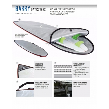 "OCEAN & EARTH 5'4"" BARRY BASIC SACCA SHORTBOARD"