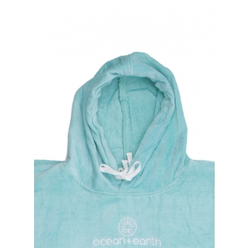 OCEAN & EARTH LADIES HOODED PONCHO IN SPUGNA DONNA ICE BLUE