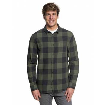 QUIKSILVER CAMICIA MOTHERFLY FLANNEL GREEN