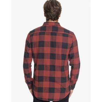 QUIKSILVER CAMICIA MOTHERFLY FLANNEL RED