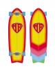 "QUIKSILVER MARK RICHARDS SUPER TWIN SURF SKATE 31"""