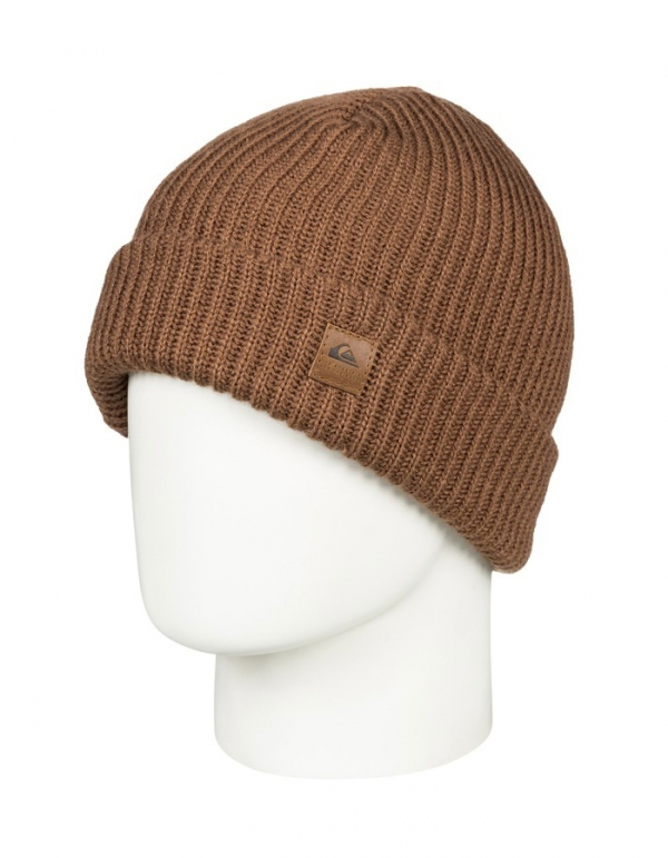 QUIKSILVER ROUTINE BEANIE GOLDEN BROWN