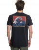 QUIKSILVER T-SHIRT ORIGINAL MOUNTAIN AND WAVE BLACK