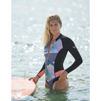 ROXY MUTA ESTIVA 1MM POP SURF LS CHEEKY FRONT ZIP DONNA