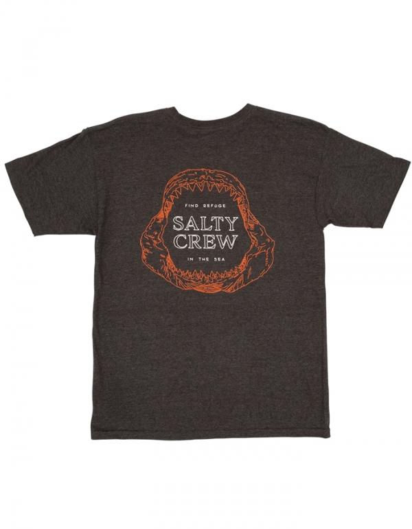 SALTY CREW BUZZSAW T-SHIRT CHARCOAL HEATHER