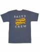 SALTY CREW DOUBLE UP T-SHIRT NAVY HEATHER