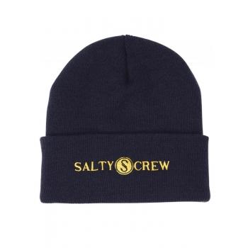SALTY CREW RAILED BEANIE NAVY