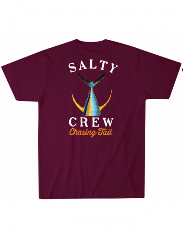 SALTY CREW TAILED T-SHIRT BURGUNDY