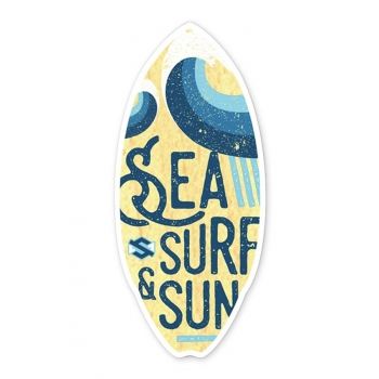 SKIM ONE SKIMBOARD RESINWOOD BLU/YELLOW 44''