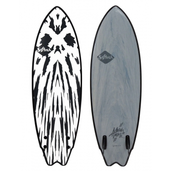 "SOFTECH MASON TWIN 5'6"" - 5'10"" GUN METAL BLACK SOFTBOARD FCSII"