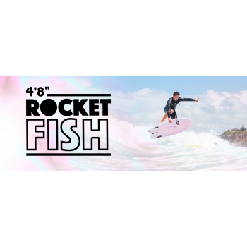 "SOFTECH ROCKET FISH 4'8"" WHITE MARBLE"