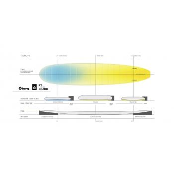 """TORQ TET 9'6"""" LONGBOARD PINLINE COLOR #2 GREEN+PINLINE"""