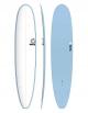 "TORQ TET 9'6"" LONGBOARD PINLINE COLOR WHITE DECK (BLUE+PINLINE)"