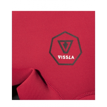 VISSLA 7 SEAS 3/2 MUTA RAGAZZO BACK ZIP RED