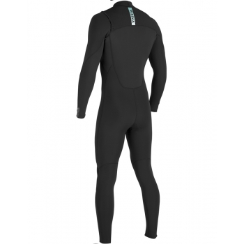 VISSLA 7 SEAS 4/3 MUTA INTERA FRONT ZIP 2018 BLACK WITH JADE