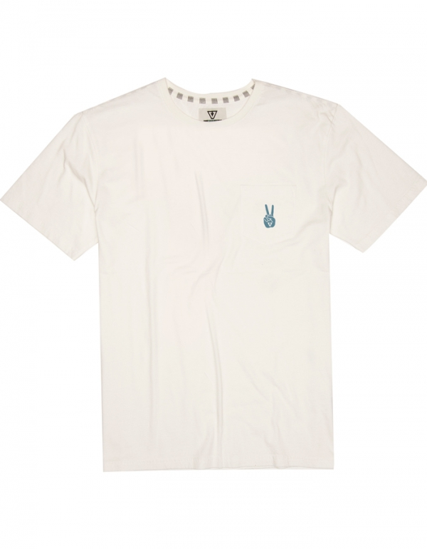 VISSLA T-SHIRT HAND MADE STOKE POCKET TEE